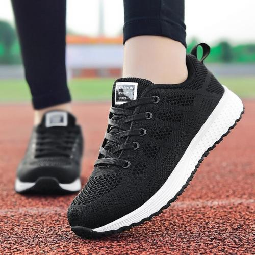 cuteshoeswearFactory Direct Women Casual Shoes Fashion Breathable Walking Mesh Flat Shoes Sneakers Women 2019 Gym Vulcanized Tenis Feminino