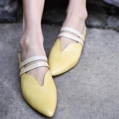 Comfortable Flat-Bottomed Pointed Outdoor Slippers