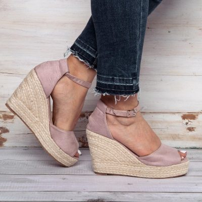 Adjustable Buckle Daily Wedges Sandals