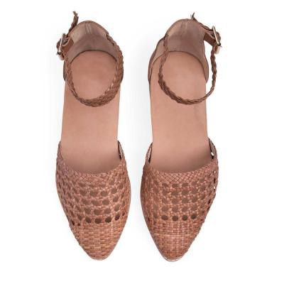 Women's Openwork Woven Pointed   Flats