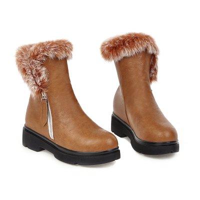 Women Daily Winter Zipper Boots