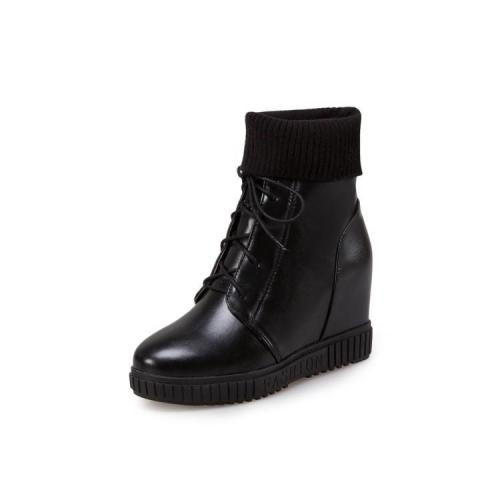 Women's Motorcycle Boots Fall/winter Leisure Wedge Boots