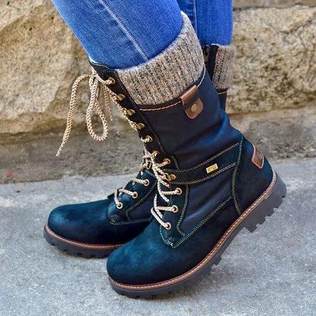 Pu Flat Heel Knee Boots