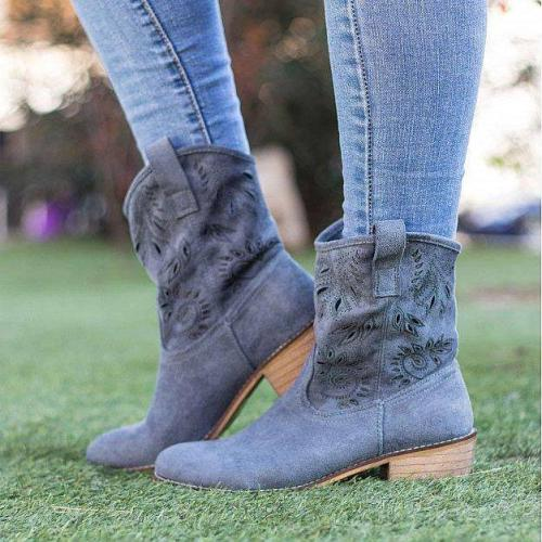 Daily Hollow-Out Ankle Boots