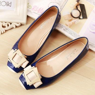 2019 Spring Painted Leather Square Buckle Single Shoes Candy Sweet Fashion Autumn Casual Flats Shoes Girl YX0003