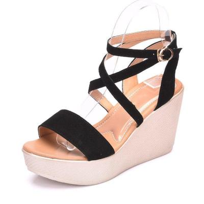 Women Wedge Sandals Casual Peep Toe Adjustable Buckle Sandals Shoes
