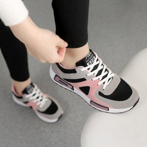 Women Nubuck Sneakers Casual Comfort Lace Up Shoes