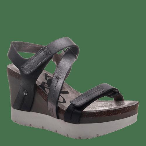 WAVEY in NEW BLACK Wedge Sandals