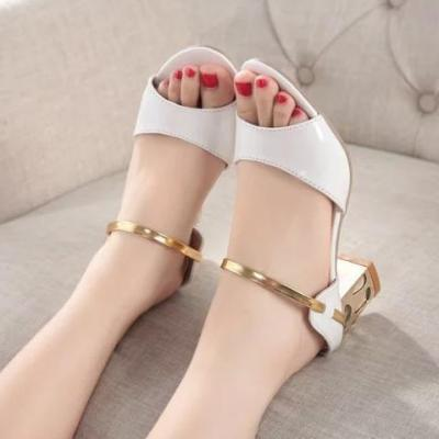 Color Block  Chunky  Mid Heeled  Casual Pumps