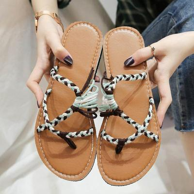 Women Knitted Fabric Slippers Casual Low Heel Shoes