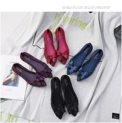 New Fashion Baotou Jelly Hole Sandals 2019 Woman Students Summer Hollow Bow Bird Nest Wild Fairy Flat Shoes