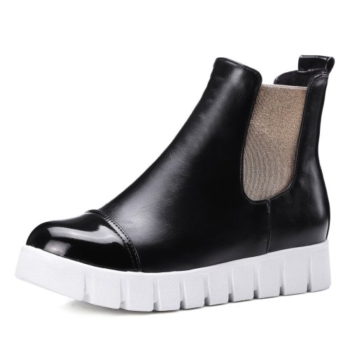 Pu Leather Platform Short Boots Plus Size Women Shoes 5072