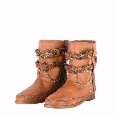 Tassel Flat Heel Boots