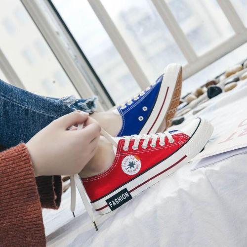 Classic White Canvas Shoes Women Fashion Sneakers Four Seasons Flat Skateboarding Low-top Mixed Colors Ladies Casual Espadrilles