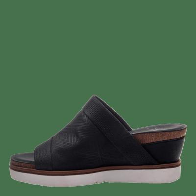 EARTHSHINE in BLACK Wedge Sandals