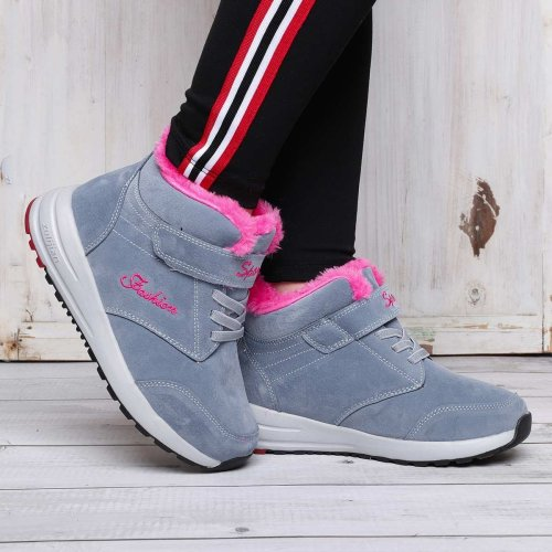 Magic Tape Wedge Heel Casual Athletic Outdoor Sneakers