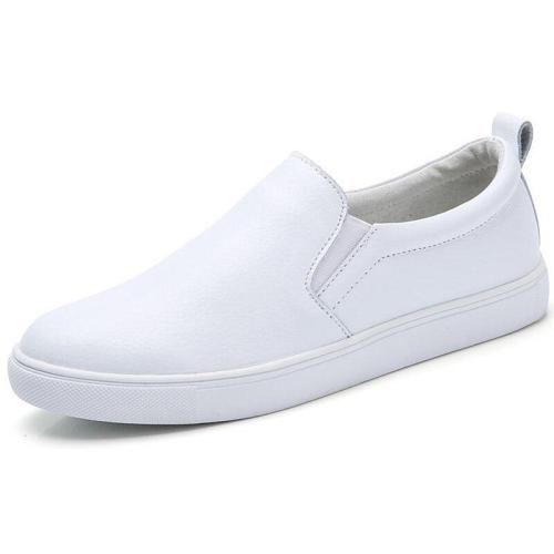 Women Leather Loafers Fashion ballet flats sliver white black Shoes Woman Slip On loafers boat shoes Moccasins