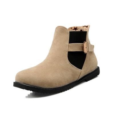 Round Toe Short Boots Plus Size Women Shoes 2602