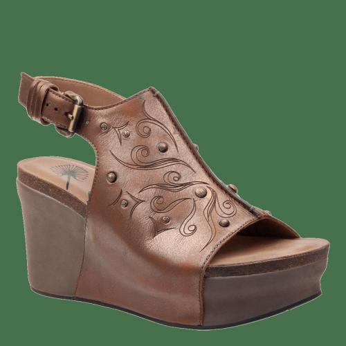 JAUNT in ANCIENT GOLD Wedge Sandals