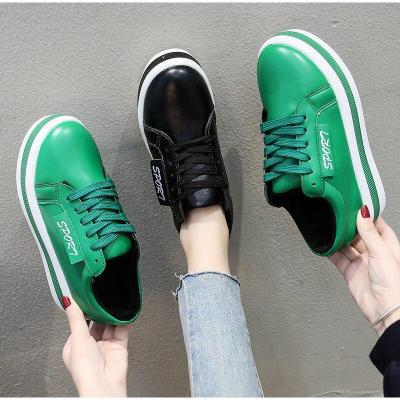 Women Leather Lace Up Sneakers Woman Shoes Winter Plush Flat Shoes Female Casual Sewing New Color Ladies Fashion Platform Shoes