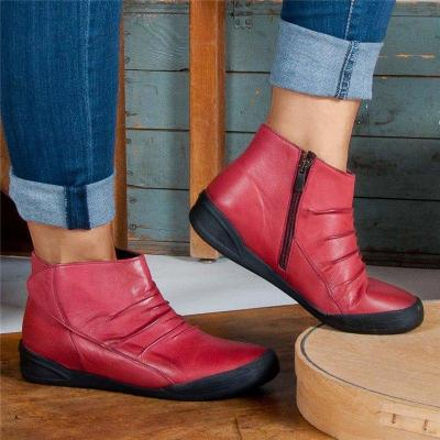 Women Casual Comfy Daily Zipper Ankle Boots