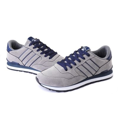 Men Synthetic Comfortable Sole Lace Up Sports Casual Shoes