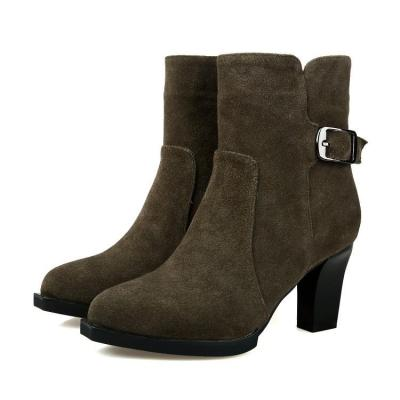 Women's Ankle Boots Autumn and Winter High Heel Short Boots Shoes