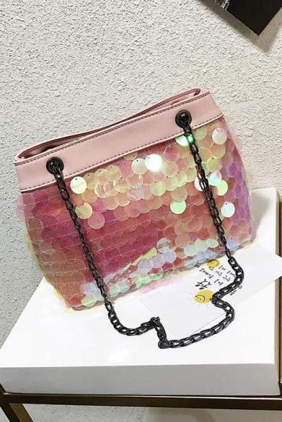 Fashion Paillette Chain One Shoulder Big Volume Bag