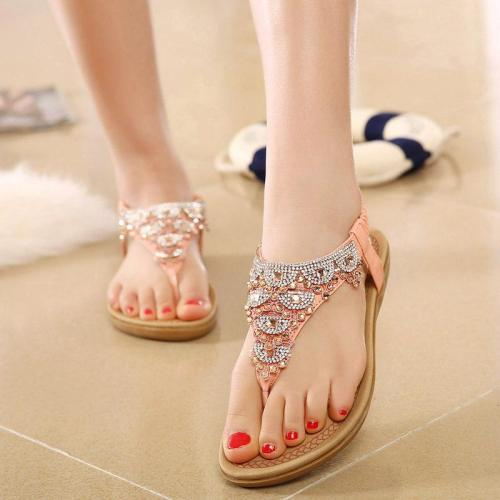 Sandals women 2019 new fashion bohemia shoes woman clip toe flat beach sandals female outdoor wom0en shoes zapatos de mujer