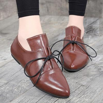 Plain  Flat  Criss Cross  Point Toe  Casual Date Comfort Flats