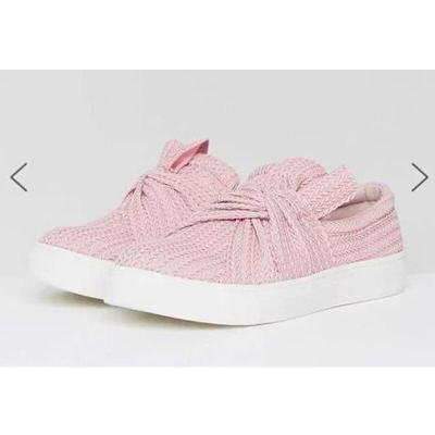Pink Shoes Women Summer Plus Size 42-43 Air Mesh breathable Loafers sneakers Fashion Butterfly-knot Flat Shoes For Girls