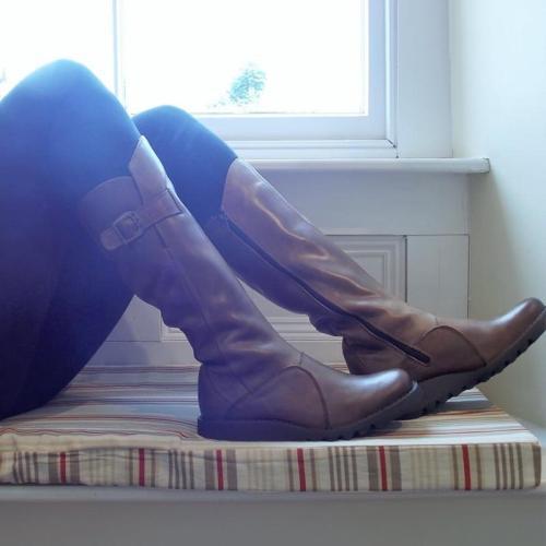 Women Vinatge Ladies Leather Tall Boots
