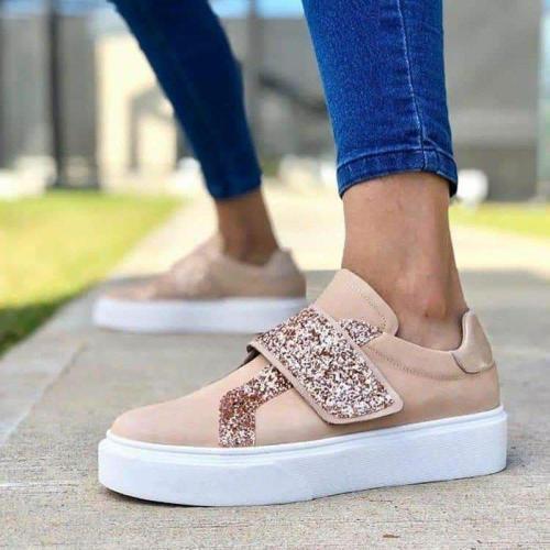 Women All Season Casual Slip-On Rhinestone Sneakers