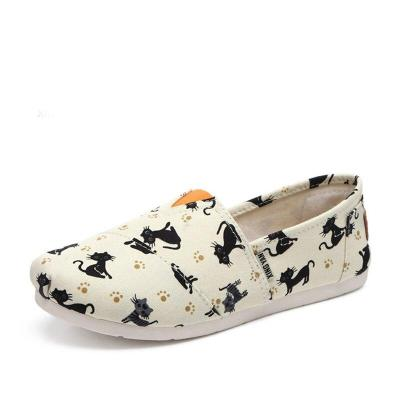 Spring Women Flat Shallow Loafers Canvas Shoes Fabric Female Casual Shoes Comfortable Breathable Ladies Mother Sewing Plus Size