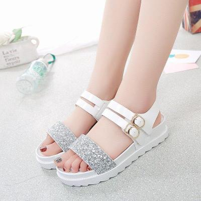 Shoes woman sandals 2019 elegant thick bottom flat sandals women outdooor comfortable women shoes zapatos de mujer