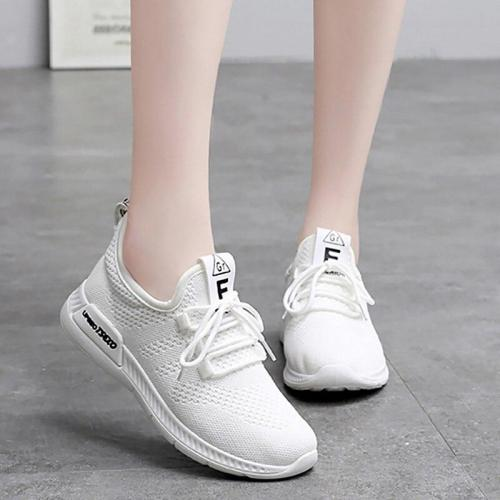 Women Shoes Women's Sports Shoes Breathable Light Weight White Running Shoes Comfortable Nonslip Summer Footwear