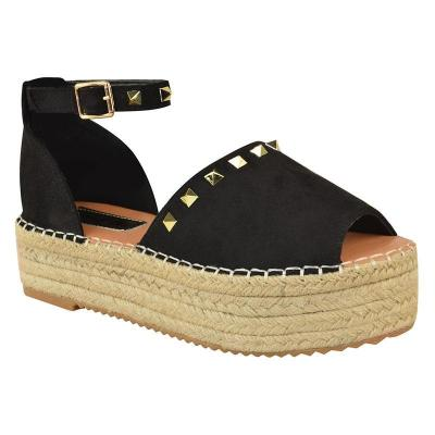 Women Creeper Sandals Espadrilles Adjustable Buckle Shoes