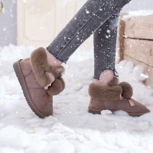 Women's soft warm snow boots