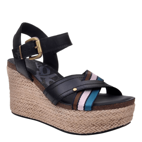 TOPSAIL in NEW BLACK Wedge Sandals