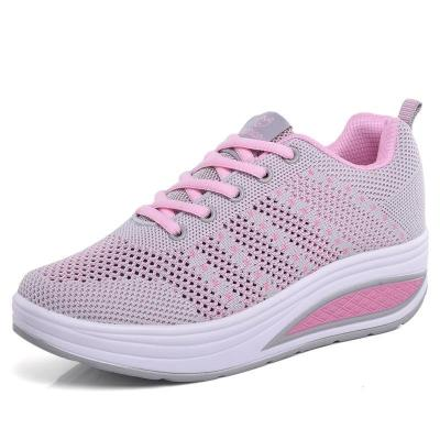 Mesh Lace Up Platform Breathable Casual Trainers Sneakers
