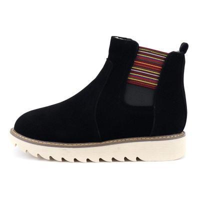 Low Heel Suede Boots
