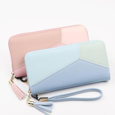 2020 Leather Women Wallet Tassel Long Wallets Fashion Wallet Female Girls Phone Pocket Purse Card Holder Long Clutch Coin Purse