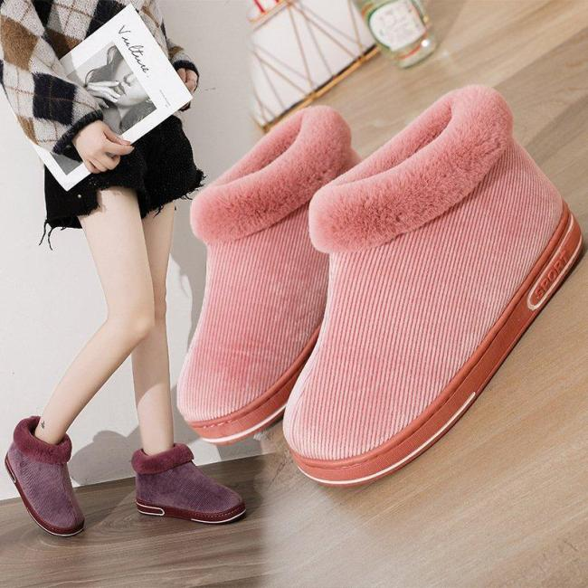 Warm Daily Housing Slip-on Ankle Boots