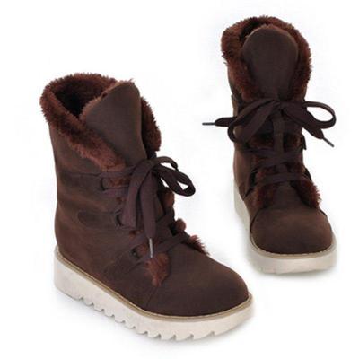 Women's Casual  Low Heel Slip-On Boots