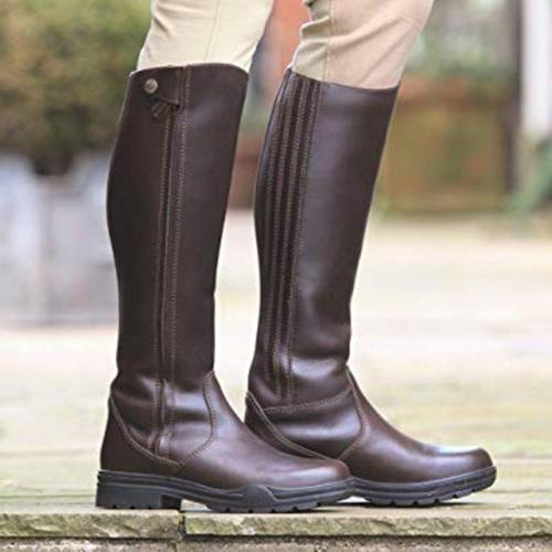 Women's casual zipper boots