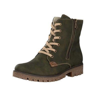 Zipper Green Winter Boots