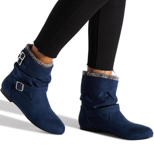Women Winter Button Sweater Knit Boots