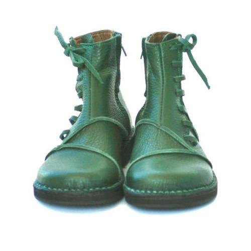 Women Casual  leather short lace up boots