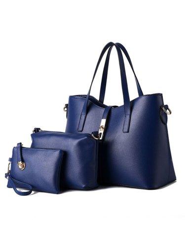 Three Pieces Pu Classic Shoulder Bag