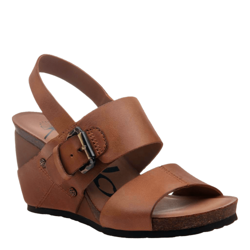 OVERNIGHT in CASHEW Wedge Sandals